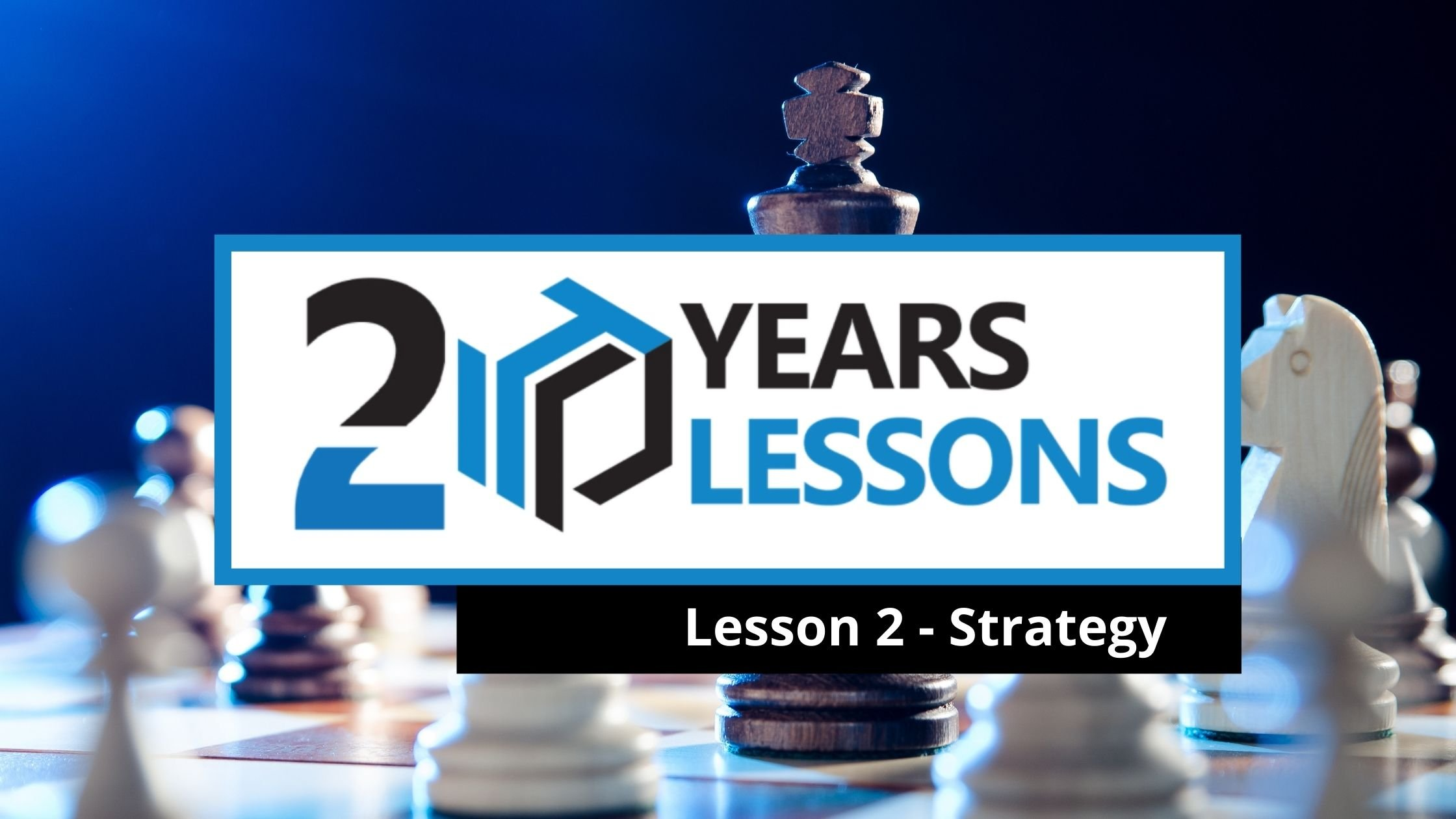 Lesson 2 - Organizational Strategy | 20 Years, 20 Lessons