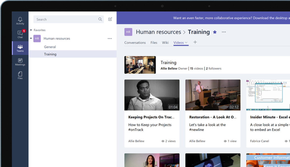 Create Secure Internal Training & Organizational Video Channels with Microsoft Teams and Stream